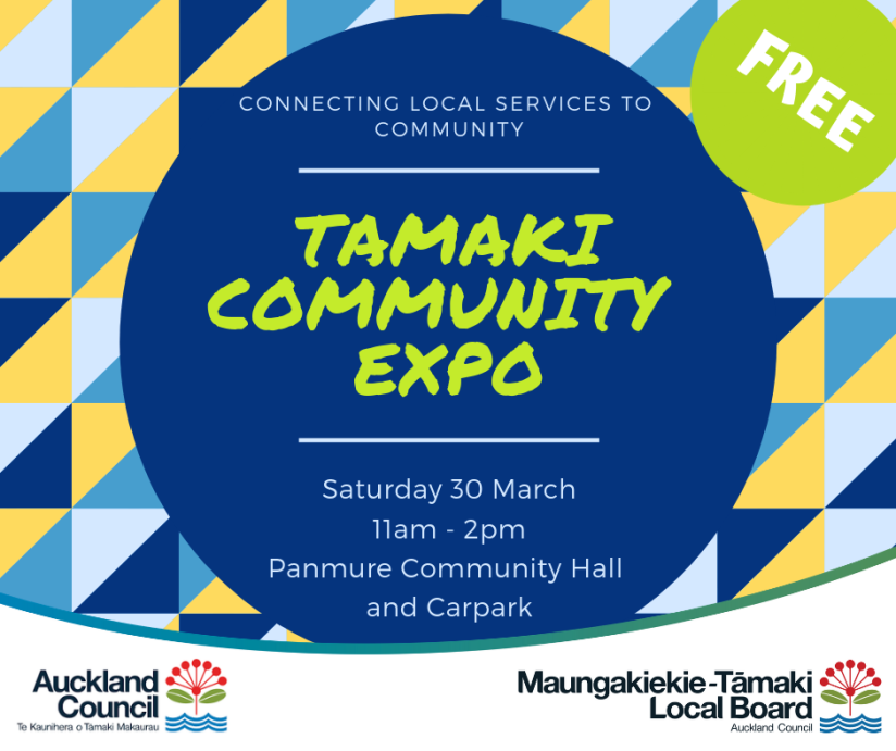 Tamaki Community Expo Stall Poster.png